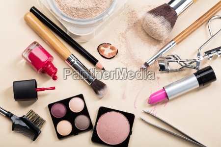 different type of makeup products