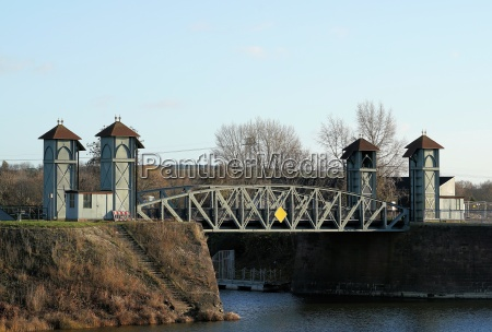 historic lift bridge in the commercial