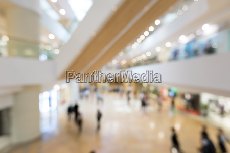 abstract blur shopping mall in department