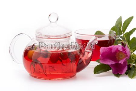 zdrowa herbata owocowa z rozanego biodra