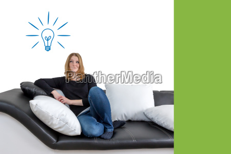 woman with idea concept
