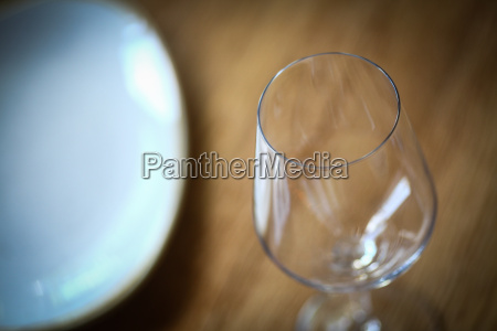 wine glass on a table near