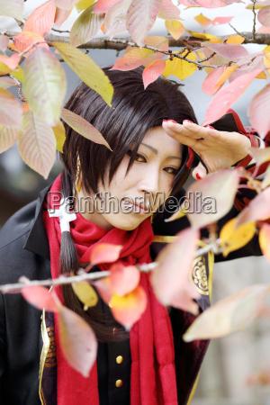 cosplay junge japanische maedchen am mamugame