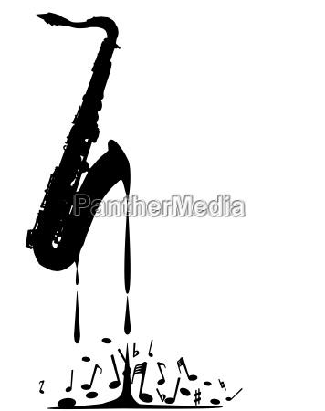 musik horn messing tropf saxophon blechblaeser