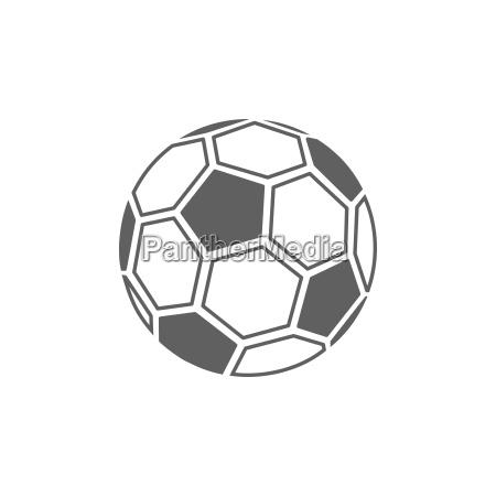 fussball ball ikone auf weissem hintergrund