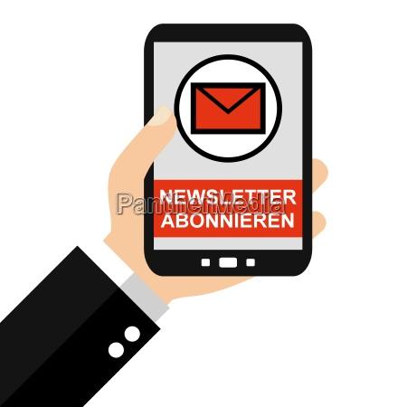 newsletter abonnieren mit dem smartphone