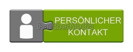 puzzle button zeigt persoenlicher kontakt