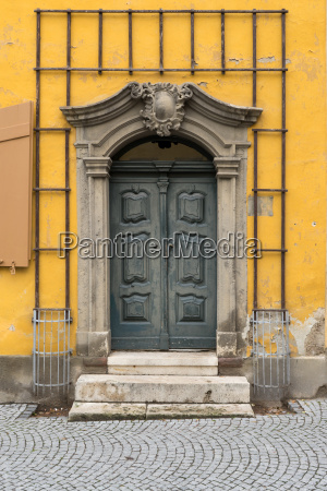 historic door of goethes dwelling house