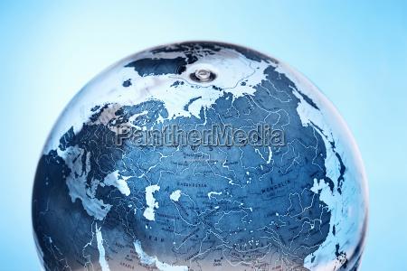 aufblasbarer globus mit russland