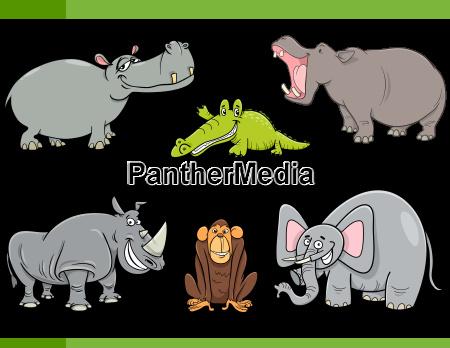 wild animals cartoon set