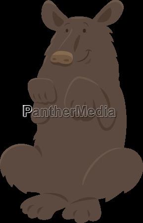 black bear animal character