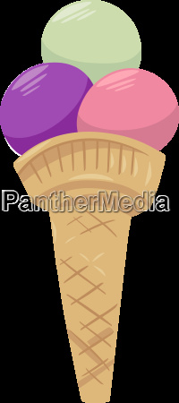 ice cream in cone food object