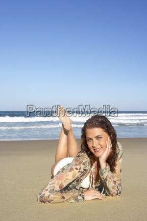beautiful teenage girl with hand on