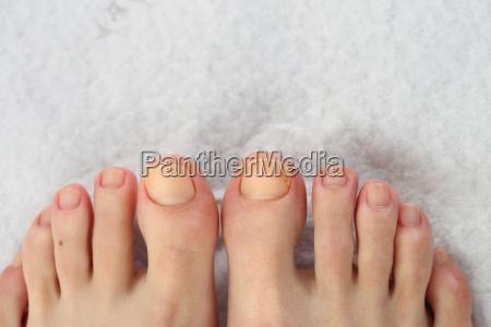 beautiful feet pedicure hygiene of fingernails
