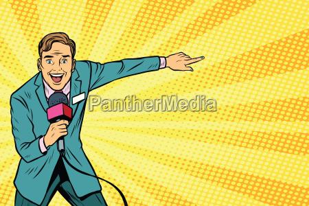 freudige tv reporter sendungen live