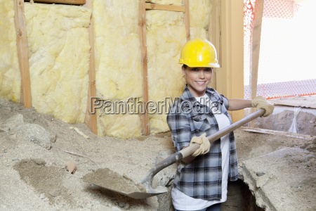 portrait of a happy female contractor