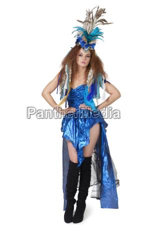 portrait der schoenen jungen mode modell