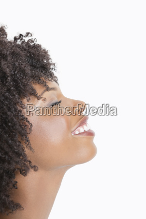 profile view of an african american