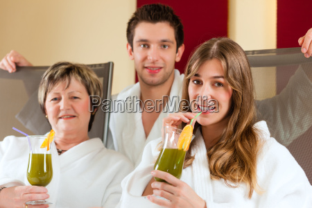 wellness people in spa with