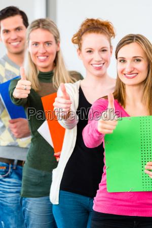 college students passed examination