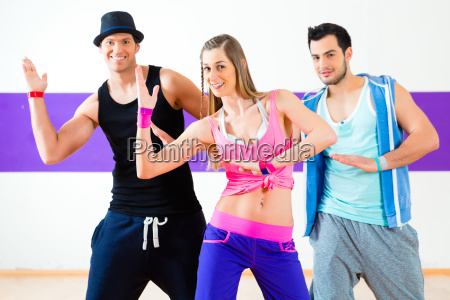 dancer at zumba fitness training in