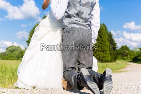 groom begging bride for mercy after