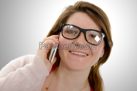 attractive young woman using phone