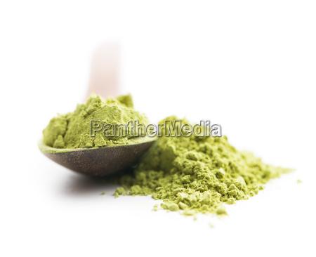 gruenes matcha teepulver
