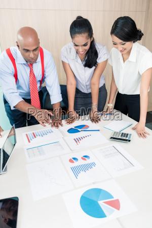 asiatisches business team im strategie meeting