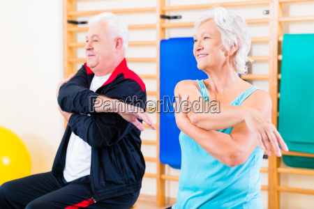 senior people in fitness exercise