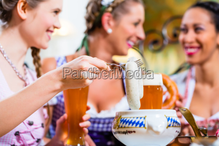 white veal sausage breakfast in bavaria