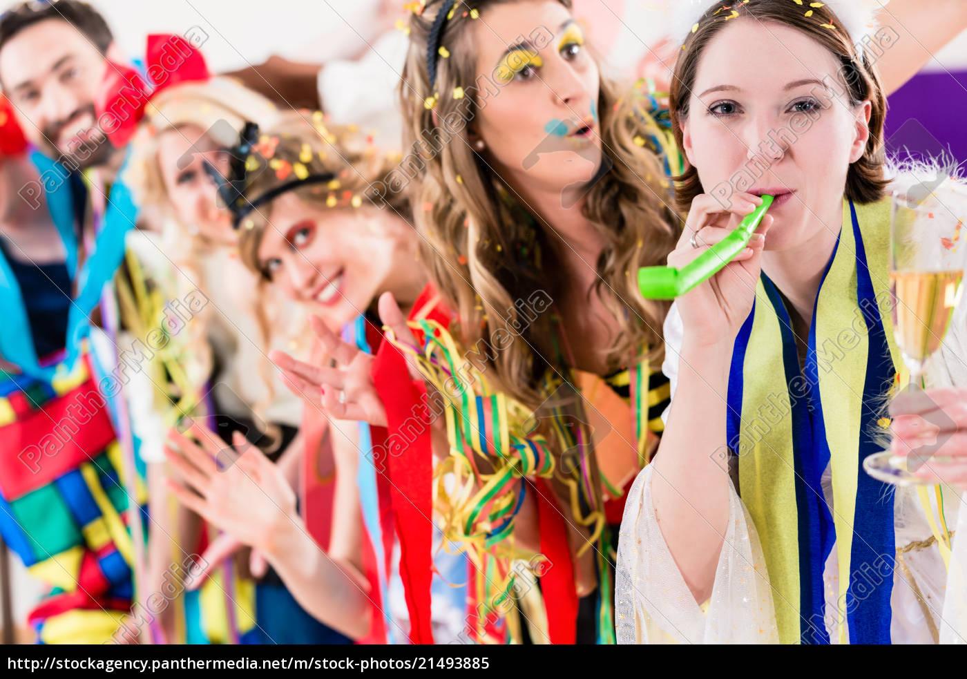 party-leute, feiern, karneval, oder, neue, jahre - 21493885