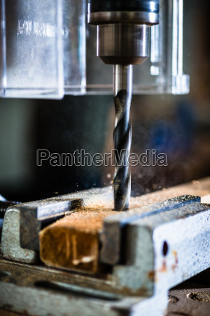 work with power drill in workshop