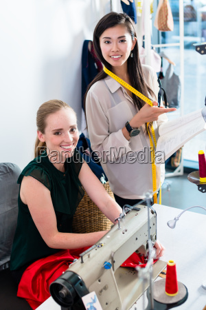 tailors or fashion designer talk about