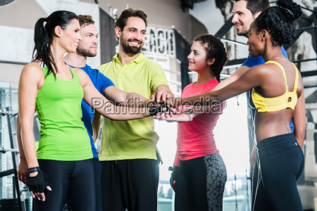 woman and men being motivated for