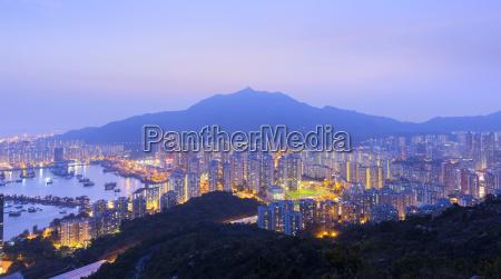 hong kong tuen mun skyline and