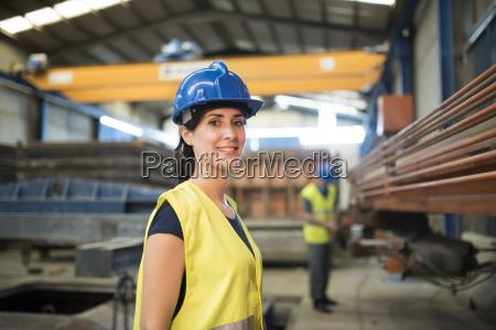 woman working a factory portrait
