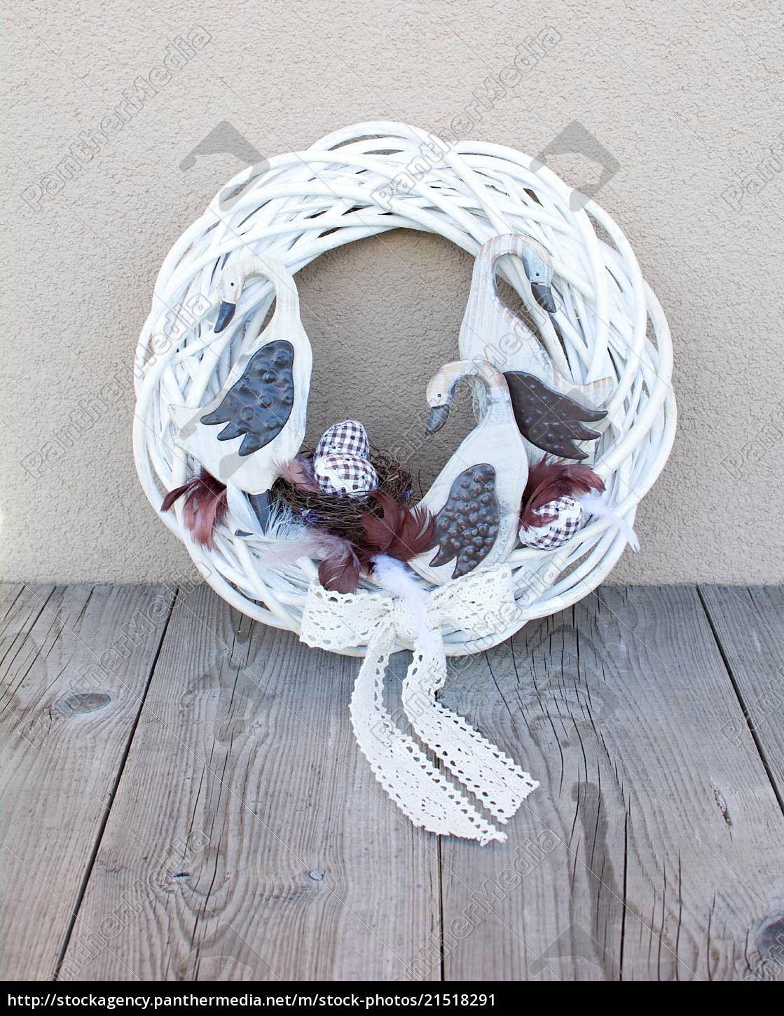 easter, wreath, decoration - 21518291