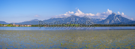 germany bavaria allgaeu mountains at lake