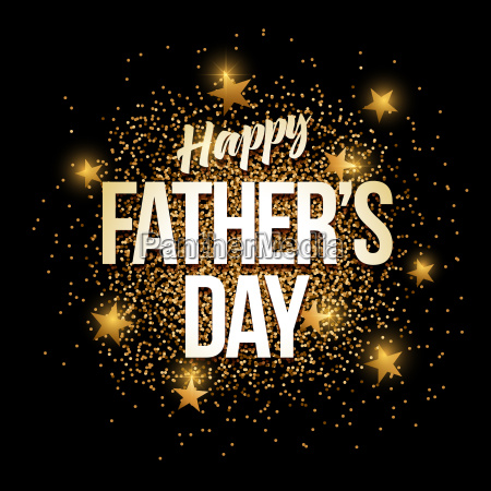 happy fathers day golden glitter background