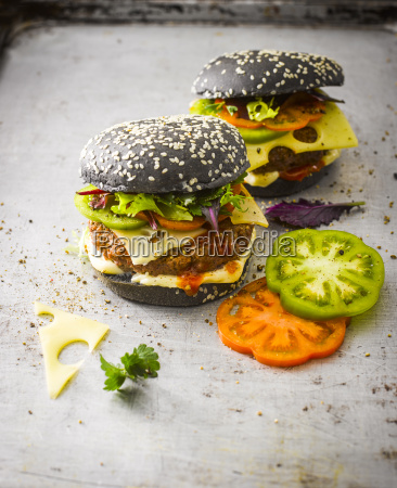 black bun burger