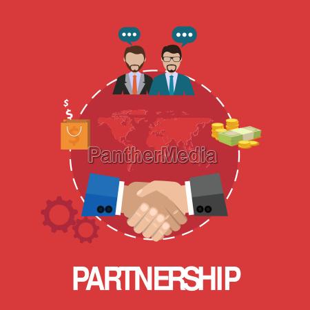 handshake partnerschaftskonzept