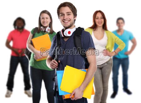studenten gruppe junge jung lachen leute