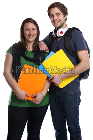 student couple young young woman man