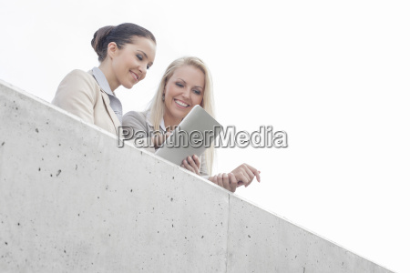 low angle view of young businesswomen