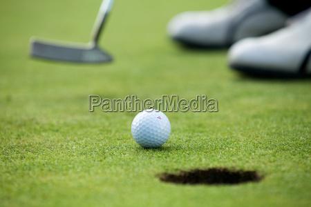 a golf club on a golf