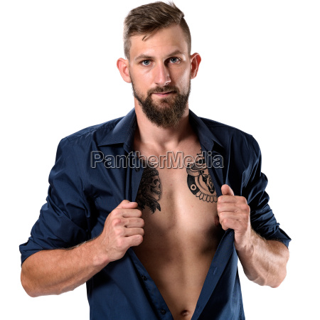tough looking man with beard and