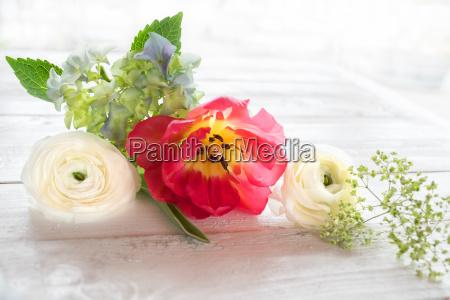 flower decoration in vintage style