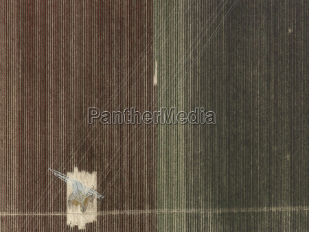 aerial view of electricity pylon in