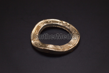 damaged metal of euro coin against